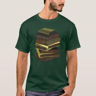 Stack Of Books - GreenGrey T-Shirt