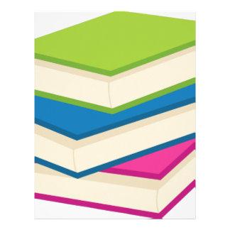 Stack of Books Letterhead