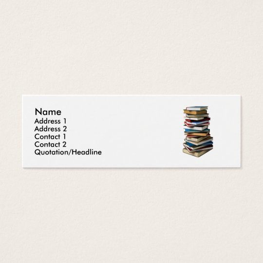 stack of books mini business card