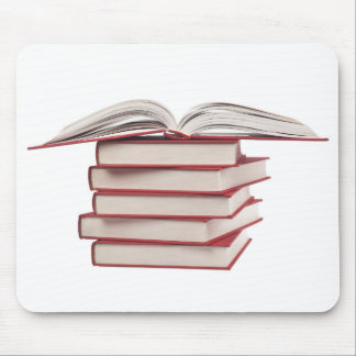 Stack of books mouse pad