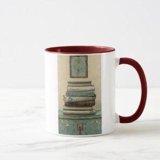 stack of books mug