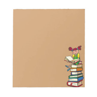 Stack of Books Notepad