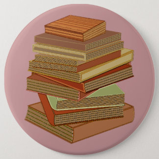 Stack Of Books - Pastel Button