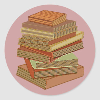 Stack Of Books - Pastel Classic Round Sticker