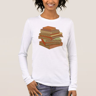 Stack Of Books - Pastels Long Sleeve T-Shirt
