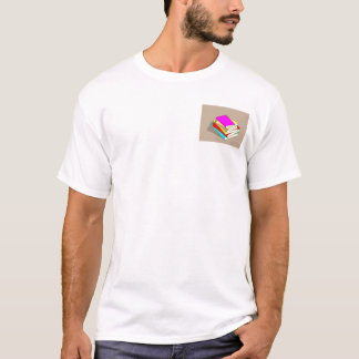 Stack of books pocket print T-Shirt