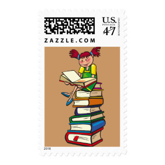 Stack of Books Postage