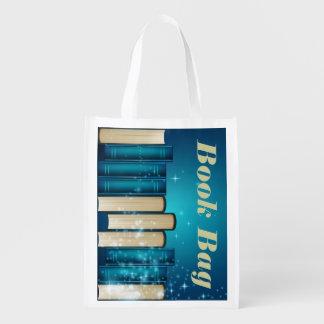 Stack of Books Reusable Tote Bag Grocery Bag