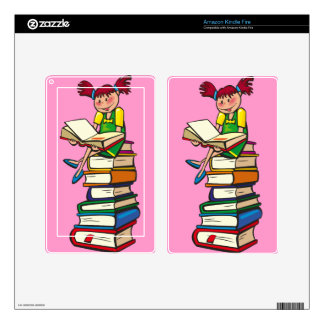 Stack of Books Kindle Fire Skin