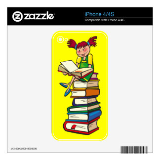 Stack of Books Skin For The iPhone 4