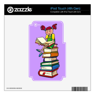 Stack of Books iPod Touch 4G Skin