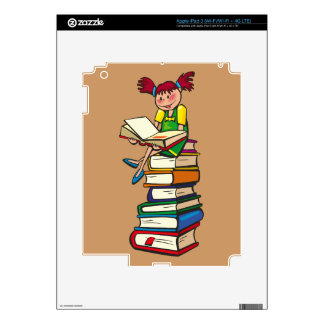 Stack of Books Decal For iPad 3