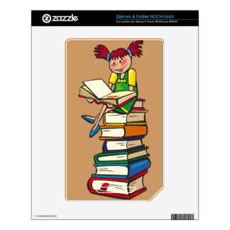 Stack of Books Decals For The NOOK Color
