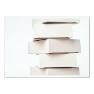 Stack of boxes 5x7 paper invitation card