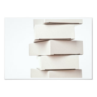 Stack of boxes 3.5x5 paper invitation card