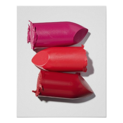 Stack of broken lipstick poster