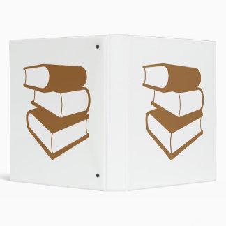 Stack Of Brown Books Binder