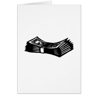 Stack of Cash Stationery Note Card