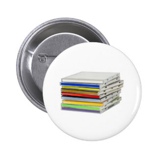 Stack of CD casings 2 Inch Round Button