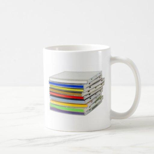 Stack of CD casings Coffee Mug