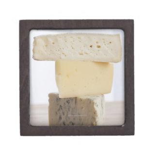 Stack of cheese premium trinket box