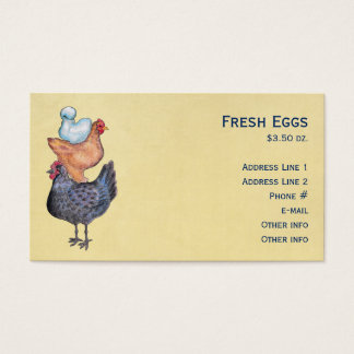 Stack of Chickens Business Cards