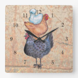 Stack of Chickens Wall Clock