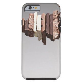 Stack of chocolate bars tough iPhone 6 case