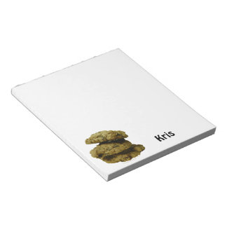 Stack of Chocolate Chip Cookies Custom Name Notepad