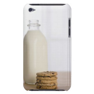 Stack of chocolate chip cookies milk in a glass iPod touch Case-Mate case