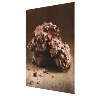 Stack of Chocolate Cookies Canvas Print