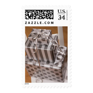 Stack of Christmas presents Postage