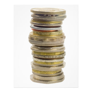 Stack of coins personalized flyer