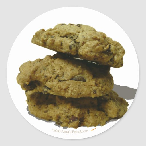 Stack of Cookies Cookie Lovers Classic Round Sticker