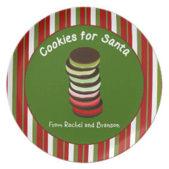 Stack of Cookies for Santa Party Plate
