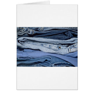stack of denim jeans card