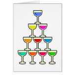 Stack of Drinks Greeting Card