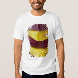 Stack of frozen ice pops, ice cream on a stick tees
