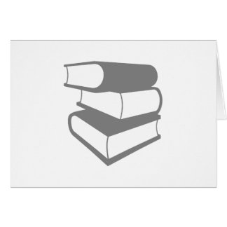 Stack Of Gray Books Card