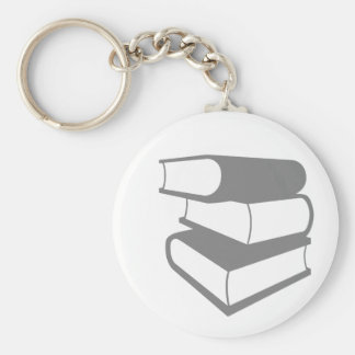 Stack Of Gray Books Key Chains