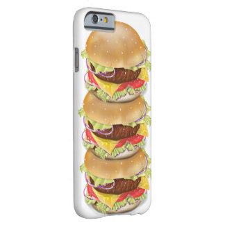 Stack of hamburgers or cheeseburgers barely there iPhone 6 case