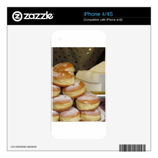 Stack of italian doughnuts with icing sugar decal for the iPhone 4S