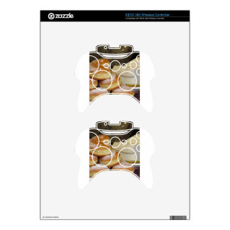 Stack of italian doughnuts with icing sugar xbox 360 controller skins