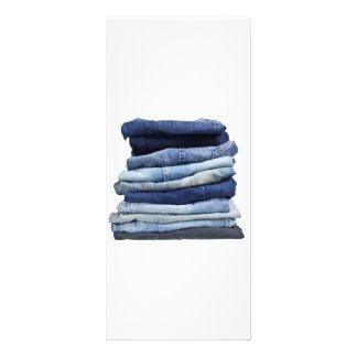 Stack of jeans rack card