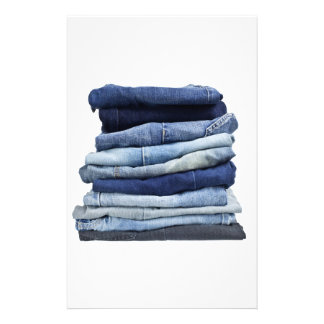 Stack of jeans stationery
