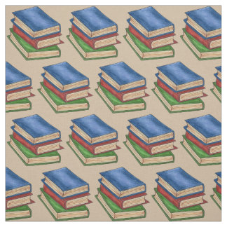 Stack of Library Books Reading Book Teacher Fabric