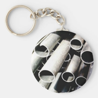 stack of metal tubes keychain
