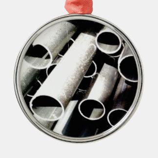 stack of metal tubes metal ornament