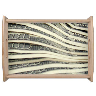 Stack of Money Serving Tray