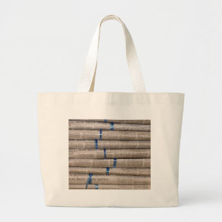 Stack of Newspapers Current Events Art Canvas Bag